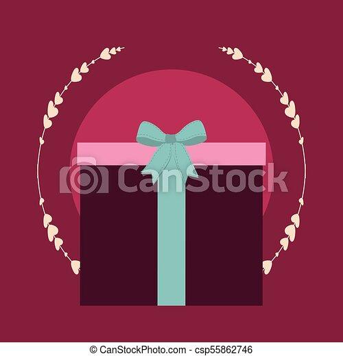 gift box icon - csp55862746