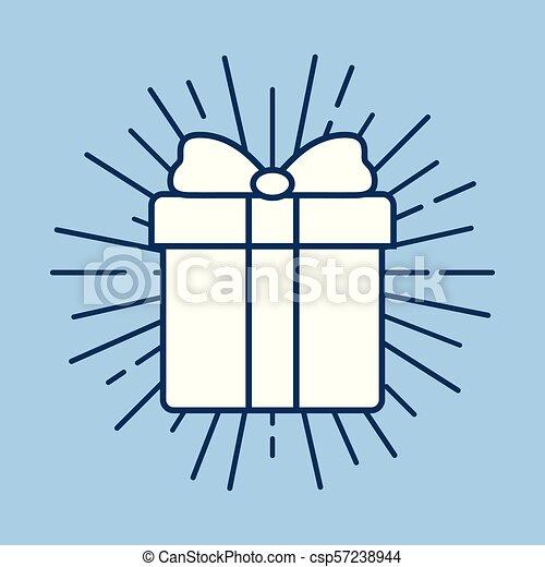 gift box icon - csp57238944
