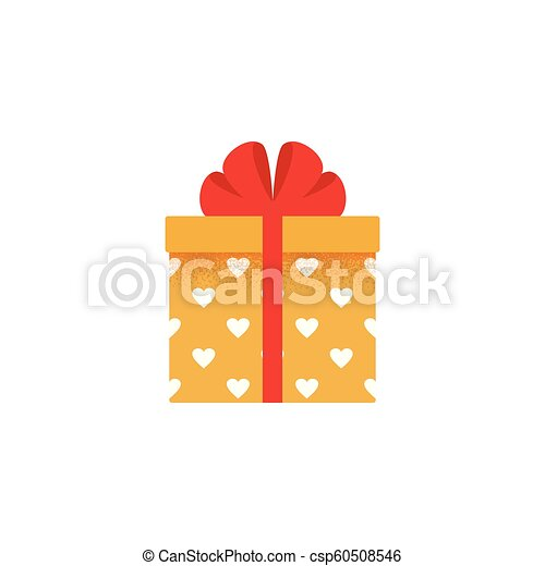 Gift Box Icon Vector Illustration Present In Flat Design Gift Box Icon Vector Present In Flat Design Christmas Winter