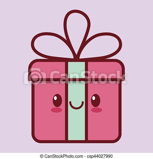 gift box kawaii icon image - csp44027990