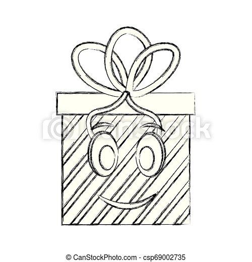 gift box present kawaii character - csp69002735
