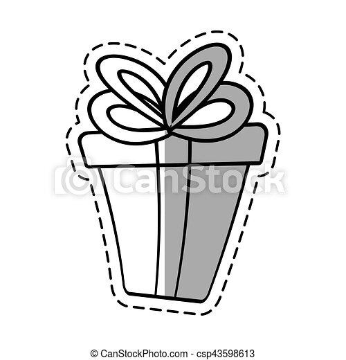 gift box ribbon event celebrate linea shadow