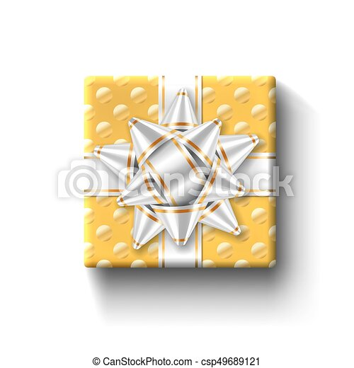 Gift box top view isolated vector template. Gift box top view ...