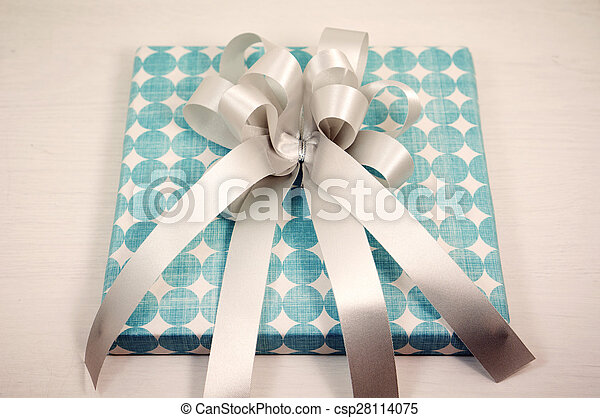 Gift box with bow - csp28114075