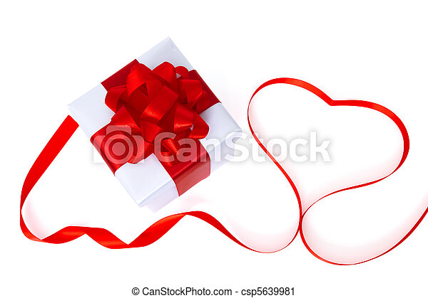 gift box with heart - csp5639981