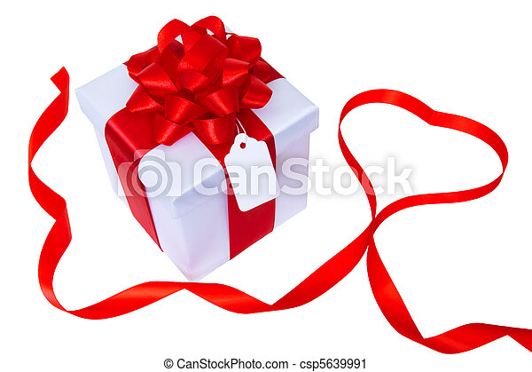 gift box with heart - csp5639991