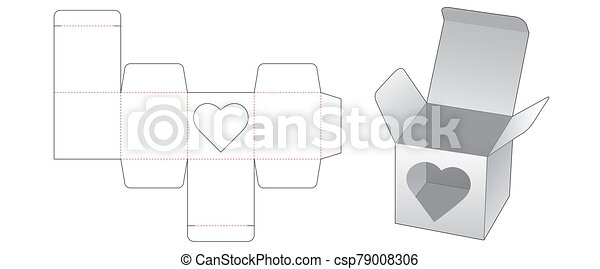 Heart Shaped Box Template from comps.canstockphoto.com