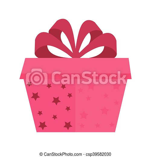 gift box with red ribbon - csp39582030