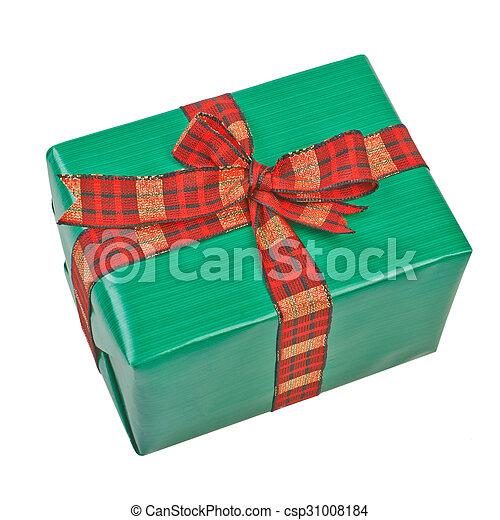 Gift box with ribbon bow. - csp31008184