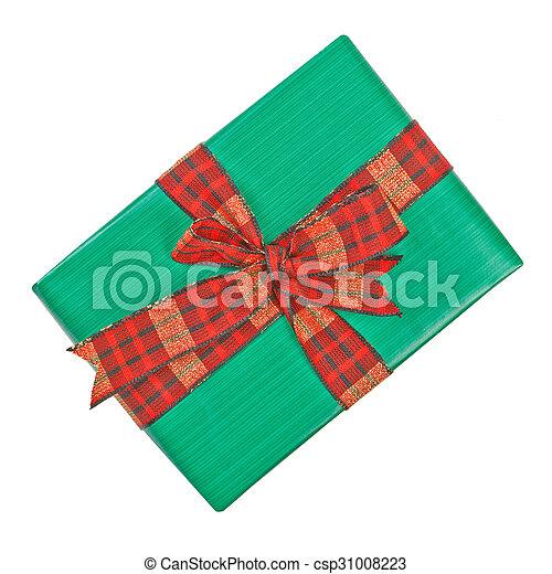 Gift box with ribbon bow. - csp31008223