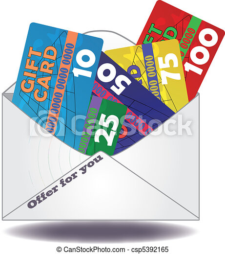 gift card mail illustration of gift cards in mail clipart vector rh canstockphoto co uk gift card clipart free gift card clipart free