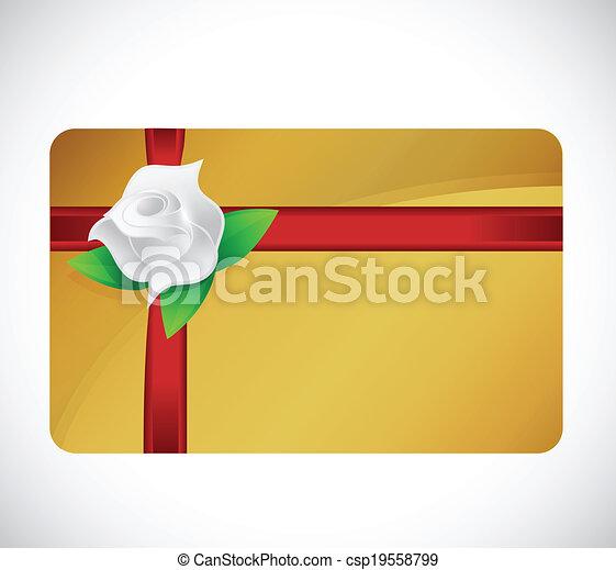 gift card rose illustration design - csp19558799