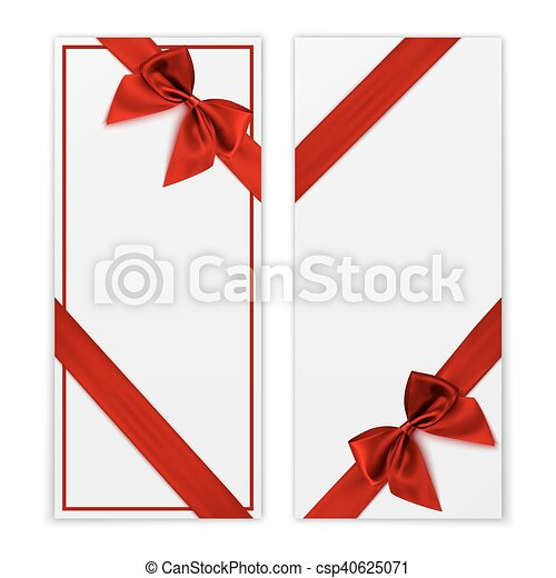 gift card white voucher templates with red ribbon gift vectors rh canstockphoto com gift card clip art images visa gift card clipart