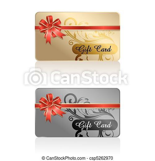 gift card with ribbon - csp5262970