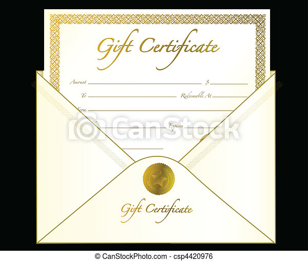 gift certificate gift certificate in an envelope vector file also