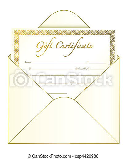 Gift certificate in an envelope vector file also available clip gift certificate csp4420986 yadclub Gallery