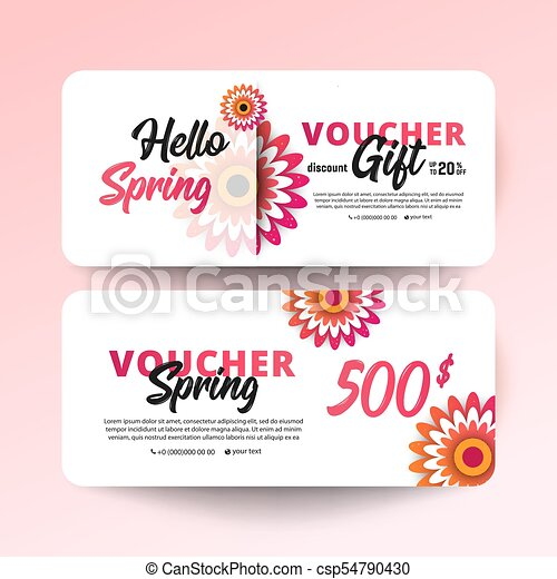 Gift certificate, coupon template. Gift voucher card set... vectors ...