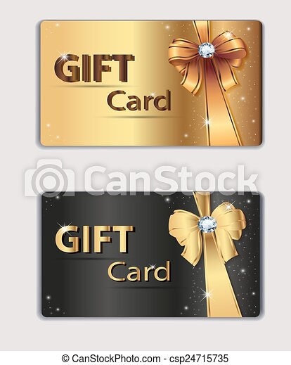 gift coupon gift card discount card business card gold and black