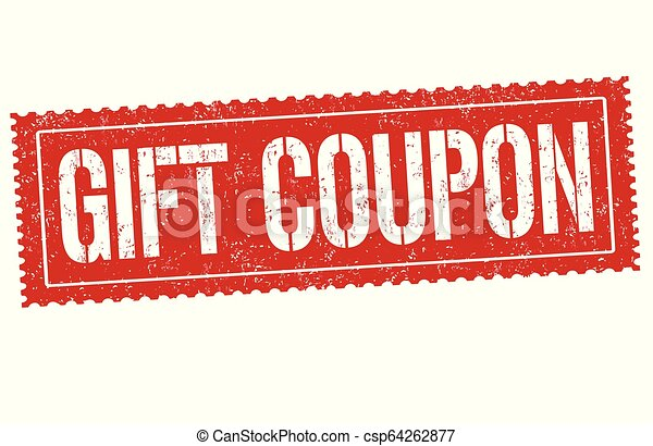 Gift Coupon Sign Or Stamp On White Background Vector Illustration