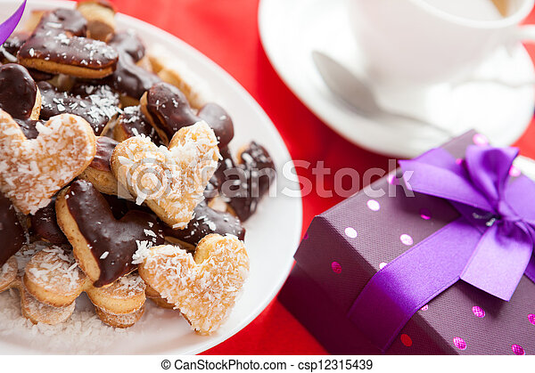 gift for Valentine's Day cookies - csp12315439