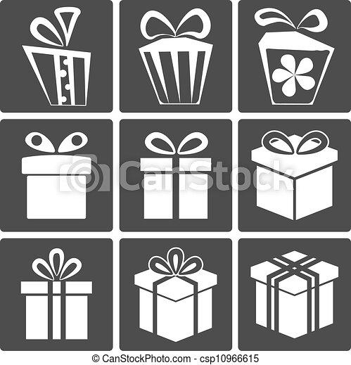 Gift icon set - csp10966615