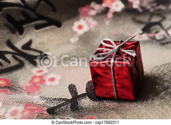 gift on the fabric - csp17692311