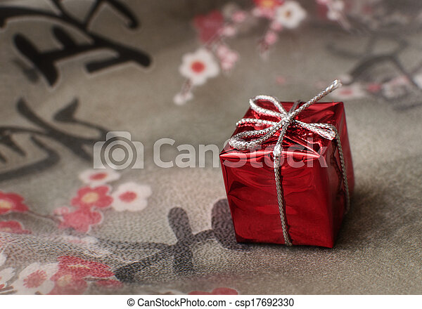 gift on the fabric - csp17692330