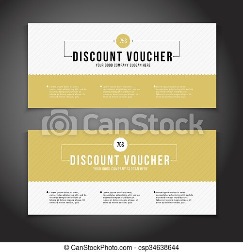 Gift or discount voucher template with modern design, special  offer or certificate coupon - csp34638644