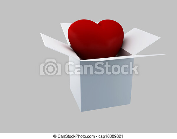 Gift Valentines Day, 3d Illustratio - csp18089821