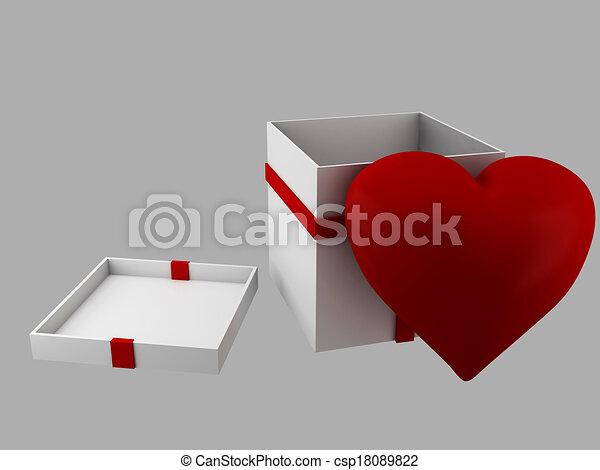 Gift Valentines Day, 3d Illustratio - csp18089822