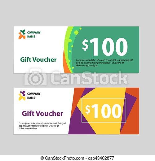 gift voucher card template design concept for retail shop voucher