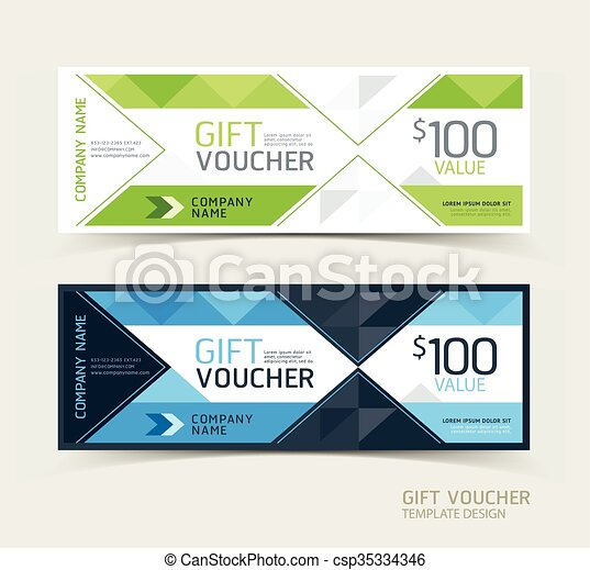 Gift voucher design template.   - csp35334346