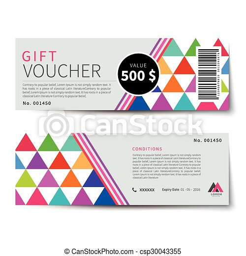 gift voucher discount  template design - csp30043355