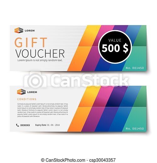 gift voucher discount  template design - csp30043357