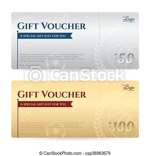 Gift voucher or gift certificate template in luxury gold and ...