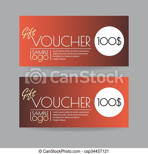 Gift voucher template design vector illustration - Search Clipart ...