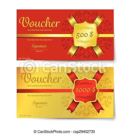Gift voucher template vectors - Search Clip Art, Illustration ...