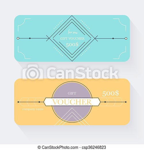 Gift voucher template. gift certificate. background design gift ...