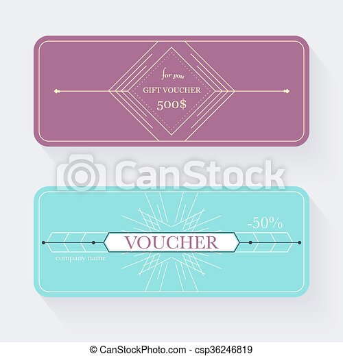 Gift Voucher Template Gift Certificate Background Design Gift