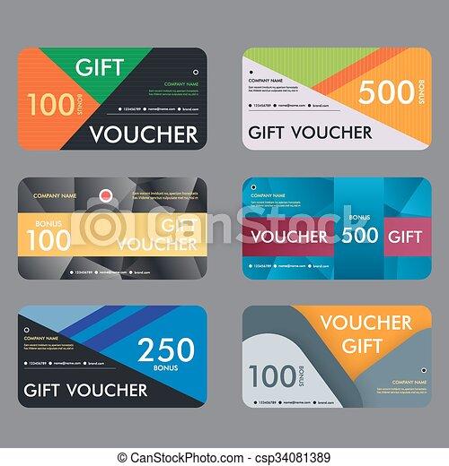 Gift voucher template with modern pattern design. vector... vector ...
