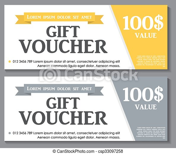 Gift voucher template with sample text vector illustration eps10.