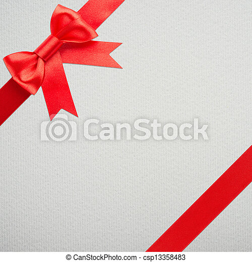 gift with red bow - csp13358483