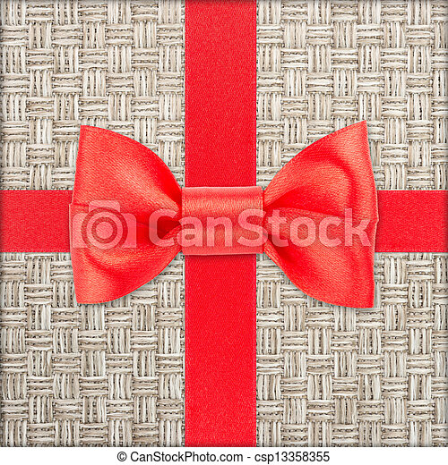 gift with red bow - csp13358355