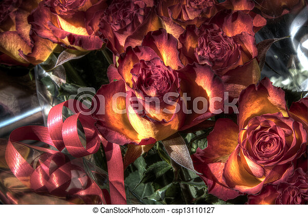 Gift wrapped roses - csp13110127