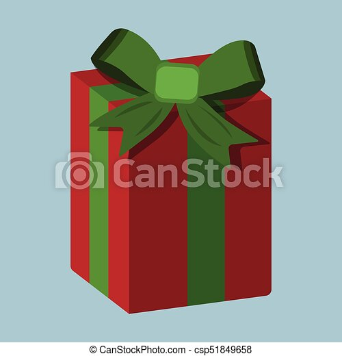 Gift XMas icon. Cartoon style. Vector Illustration for Christmas day - csp51849658