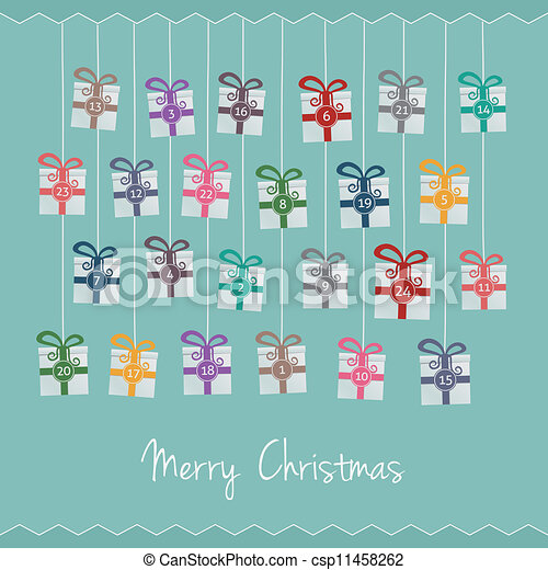 gifts hang on twine advent calendar gift boxes hang on twine advent