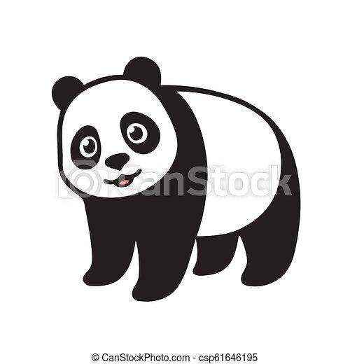 Gigante cartone animato panda corpo gigante pieno