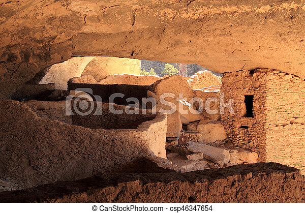 Gila Cliff Dwellings National Monument - csp46347654