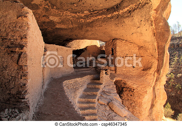 Gila Cliff Dwellings National Monument - csp46347345