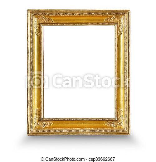 Gilded frame. Frame. gold gilded arts and crafts pattern picture frame.